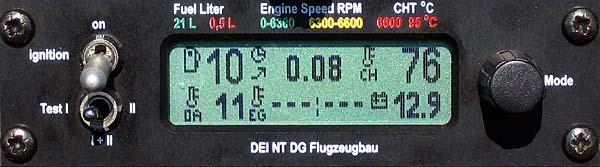 DEI-NT - Segelflugseite mit Anzeige für Überziehwarnung
